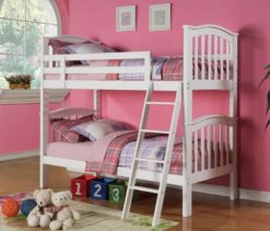 Carla Solid Pine Ivory Bunk Bed