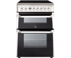 Indesit 60cm Ceramic Cooker – Silver