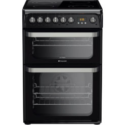 Hotpoint 60cm Electric Cooker – Black