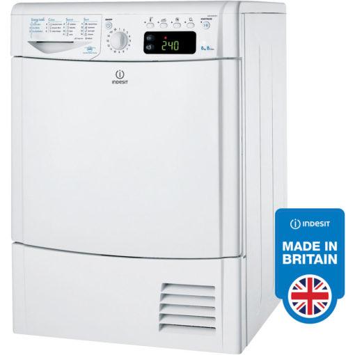 Indesit 8kg Condenser Dryer – White