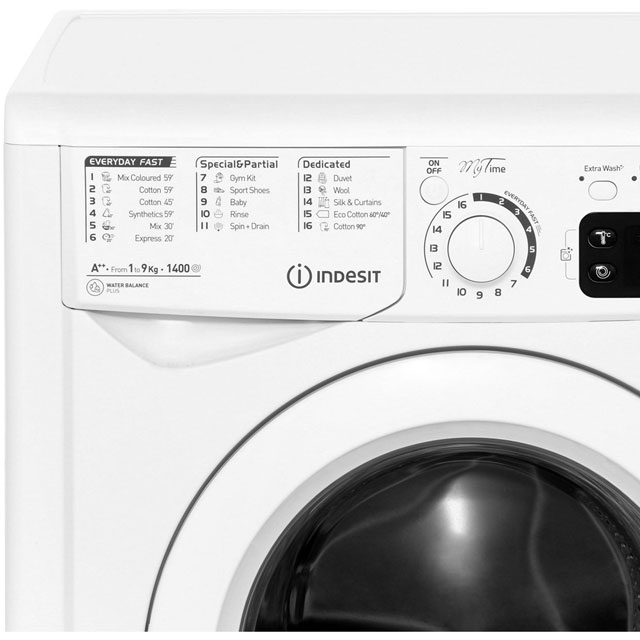 Indesit 9kg Washing Machine White