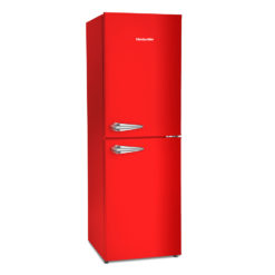 Retro Style 48cm Fridge Freezer – Red