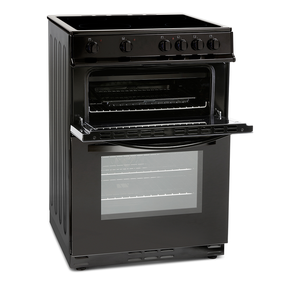 Montpellier 60cm Electric Cooker Black Rent2buy