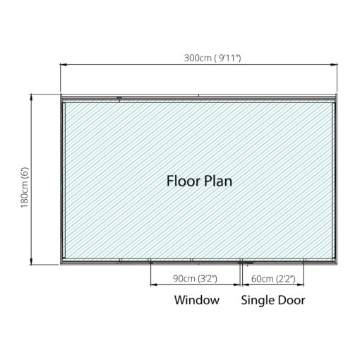 10ft x 6ft Overlap Shed