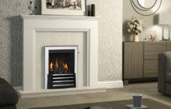 "48"" Southdale surround in Soft White finish"