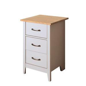 Norfolk 3 Drawer Bedside