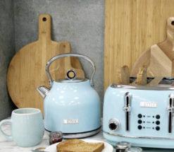 Turquoise Kettle & Toaster Set