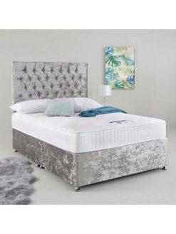 Dozy Beds Silver Crush Velvet 4'6