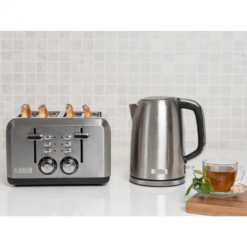 S/Steel Kettle & Toaster
