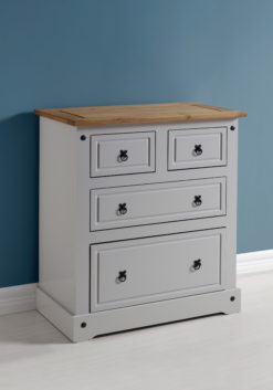 VERONA 2+2 DRAWER CHEST – Grey