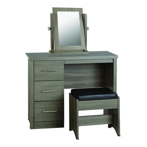 Faro 3 Piece Dressing Table Set with Mirror