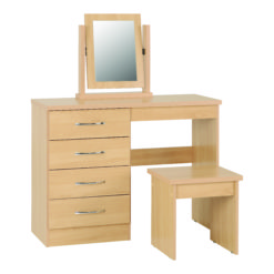 Vegas 4 Drawer Dressing Table Set